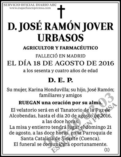 José Ramón Jover Urbasos